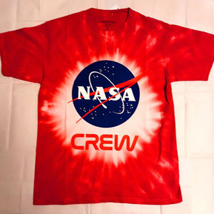 NASA Crew Logo Tie Dye Official T-Shirt L XL NWT